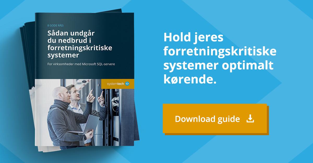 Guide Undgå nedbrud i forretningskritiske systemer