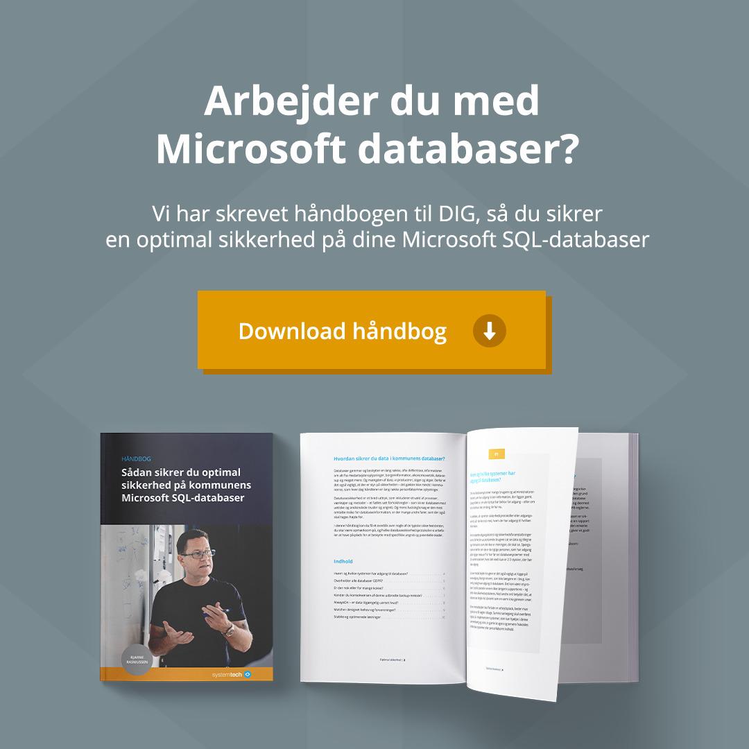 Håndbog Microsoft SQL databaser